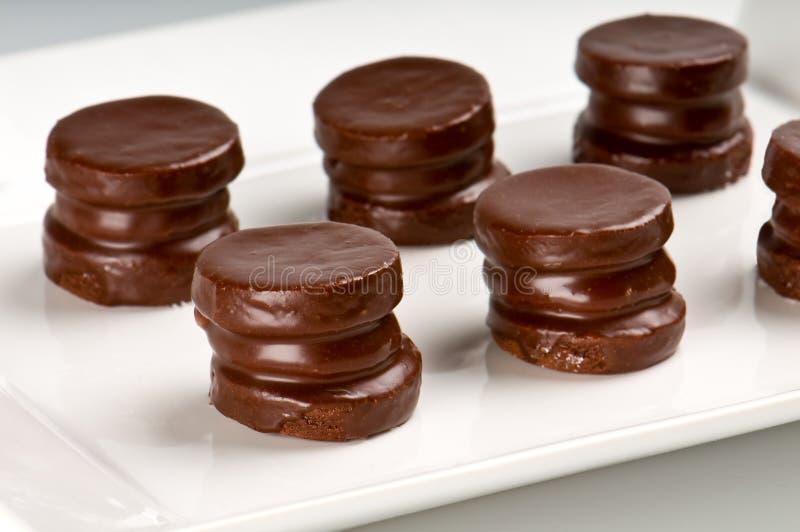 chokladkakor arkivbild