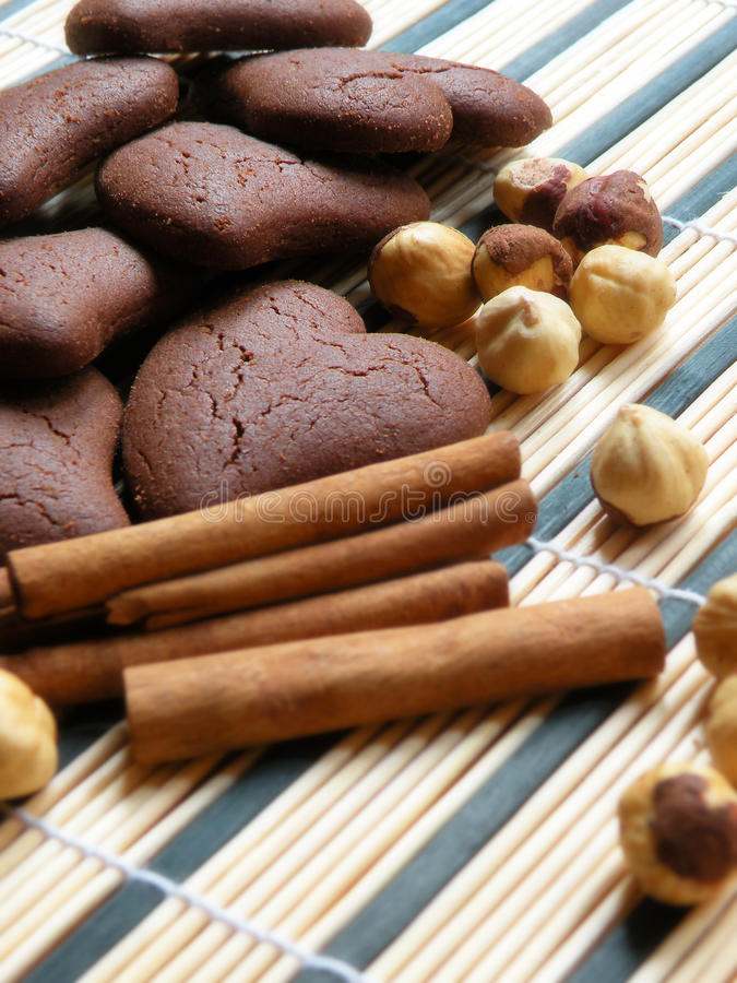 chokladkakor arkivbilder