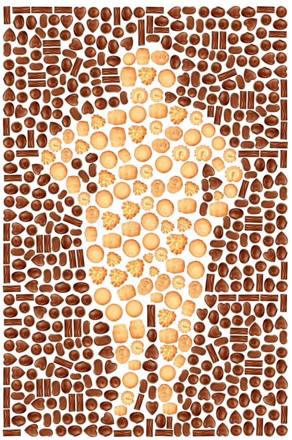 chokladkakor bantar arkivfoto