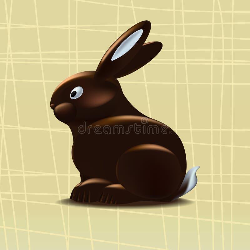 Chokladkanin på en gul bakgrund också vektor för coreldrawillustration stock illustrationer