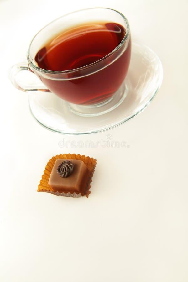 chokladkopptea arkivbilder