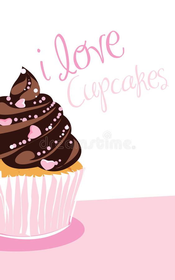 chokladmuffin stock illustrationer