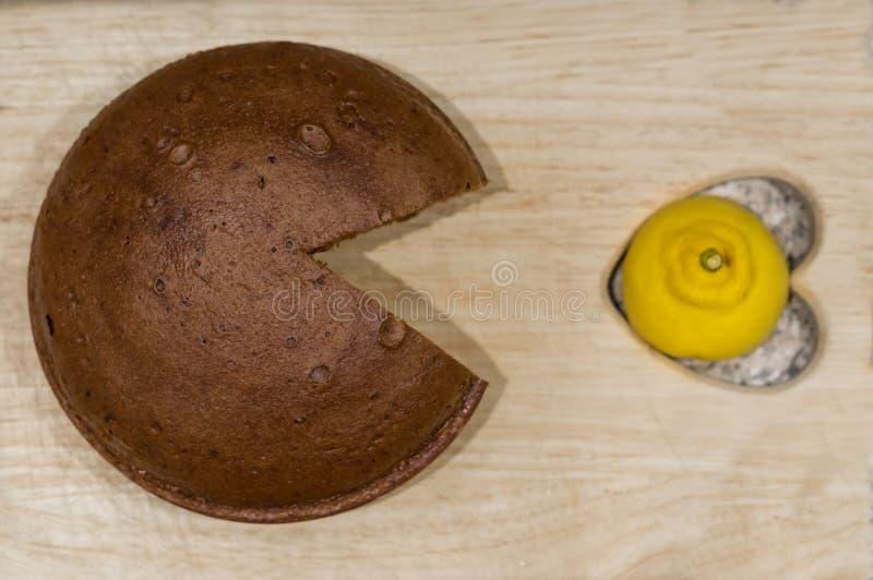 ChokladPac-man royaltyfri foto