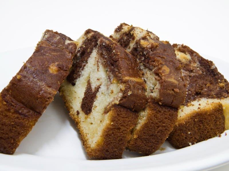 chokladplumcake arkivbilder