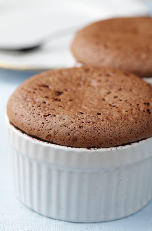 chokladpudding arkivbild