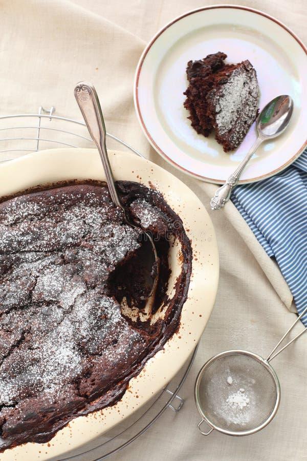 chokladpudding royaltyfri bild