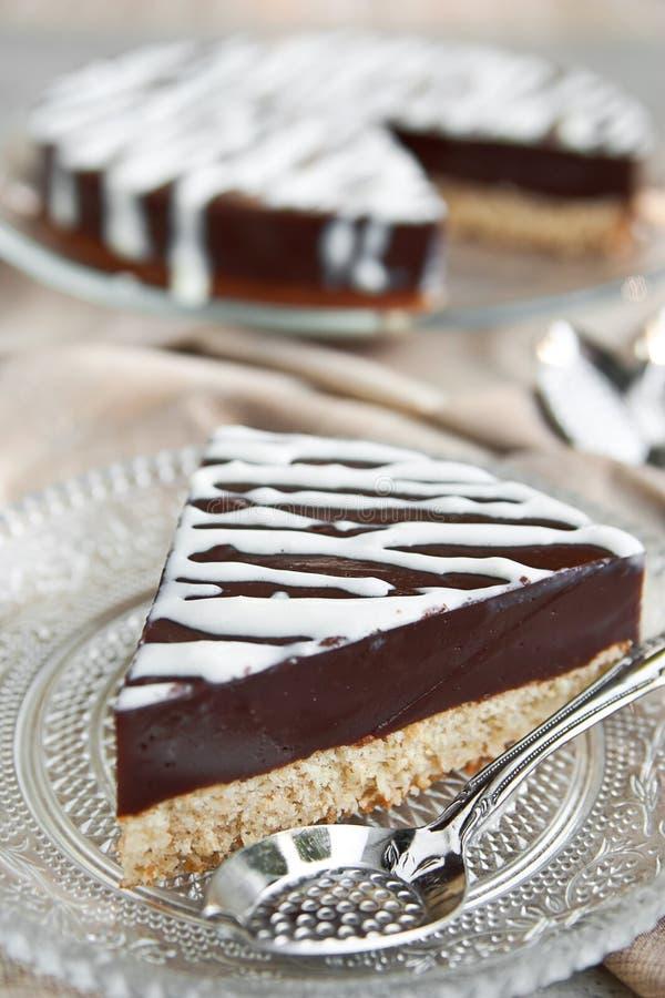 Chokladpuddingtårta arkivfoto