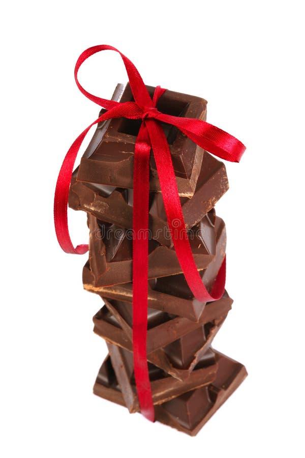 chokladpyramid royaltyfri fotografi