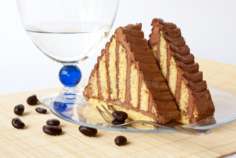 chokladpyramid arkivfoto