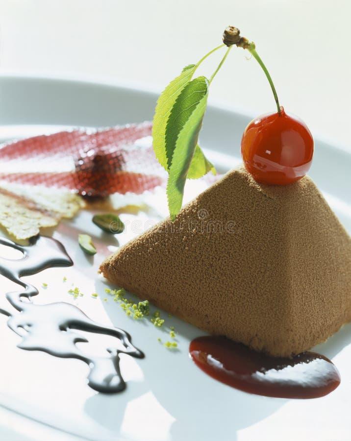 chokladpyramid royaltyfri foto