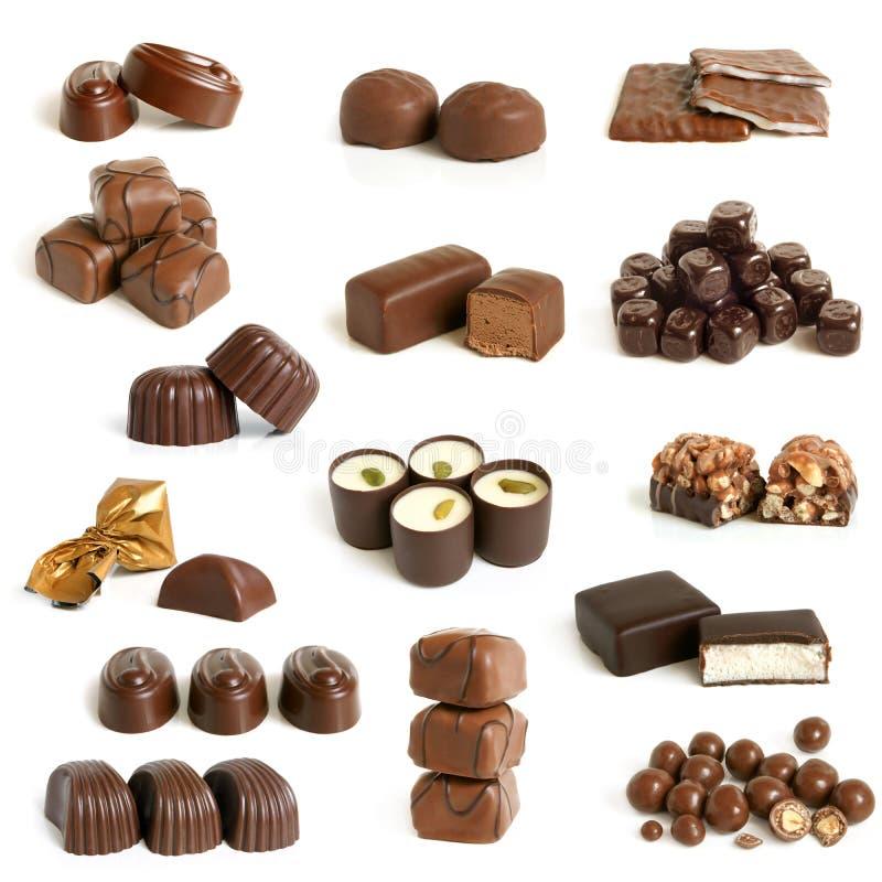 Chokladsötsaksamling royaltyfria foton