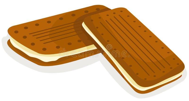chokladsmällare stock illustrationer