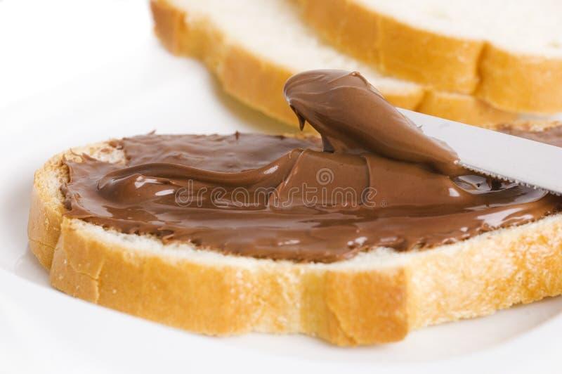 chokladsmörgås royaltyfria foton