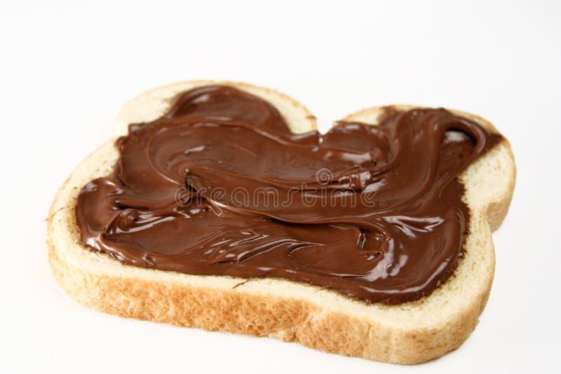 chokladsmörgås royaltyfria bilder