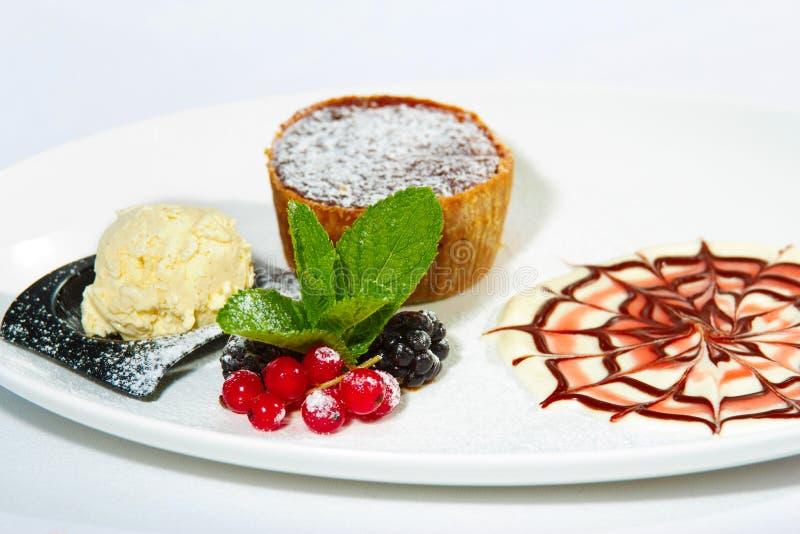 Chokladtårta med björnbäret royaltyfri bild