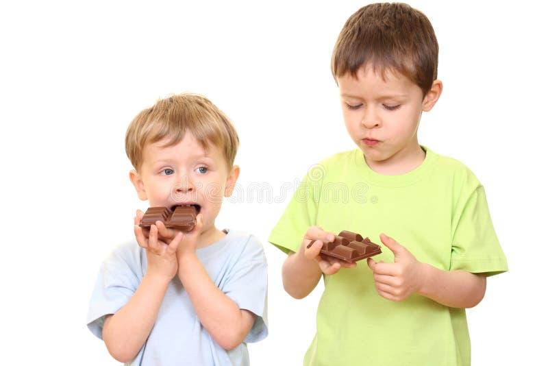 chokladungar royaltyfri fotografi