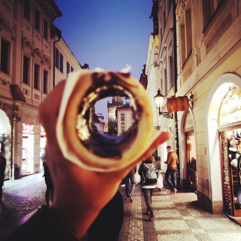 Choko de nourriture de Prague images stock