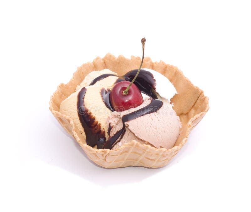 chokolade奶油色冰 免版税图库摄影