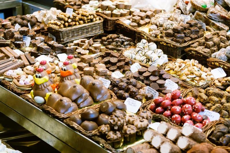 Chokolate Catalan no vendedor fotos de stock