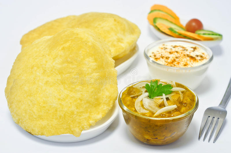 Chole Bhature lizenzfreies stockfoto