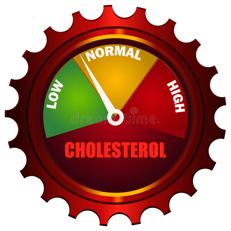 Cholesterol Meter Gear shaped Gauge. royalty free illustration