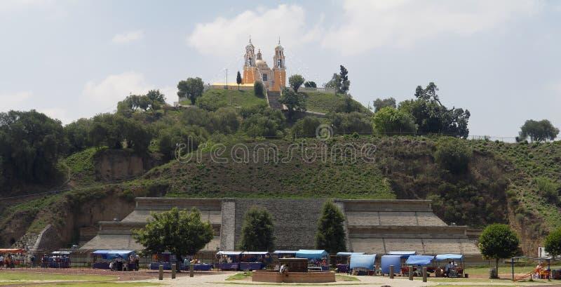 Cholula Church And Pyramid Mexico Royalty Free Stock Photography