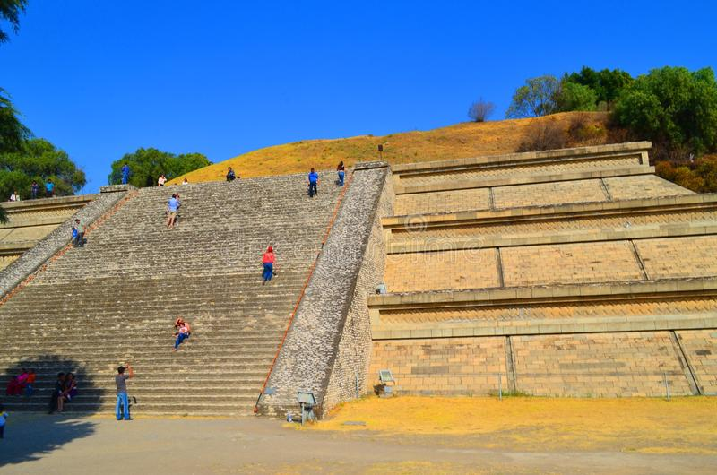 Cholula puebla pyramid. México. The Great Pyramid of Cholula, also known as Tlachihualtepetl. Its base it's bigger than the ones found at the Pyramids stock images