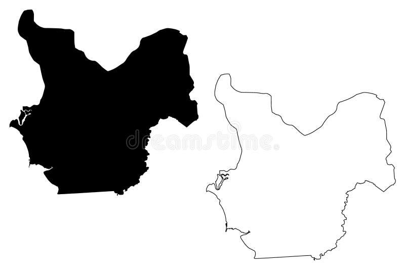 Choluteca Department Republic of Honduras, Departments of Honduras map vector illustration, scribble sketch Choluteca map.  vector illustration