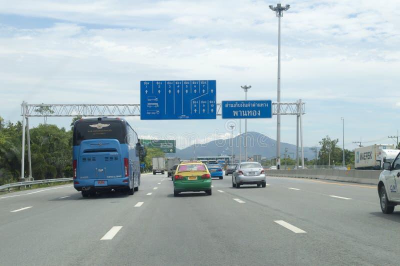 Chon Buri省街道视图在泰国 库存图片