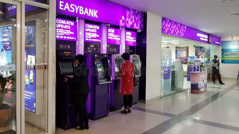 Chon Buri Tajlandia, Grudzień, - 18, 2018: Siam Commercial Bank lub akronim jest SCB Ja jest pierwszy bankiem Tajlandia, nieforma obrazy stock