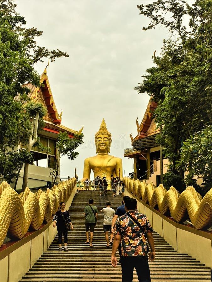 Chon Buri,Thailand-May 11,2019: Wat Phra Yai Temple - Big Buddha Statue Pattaya City, Bang Lamung District, Chon Buri.A nice stock photos