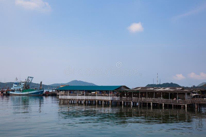 chonburi Tailandia della villa di pesca immagini stock