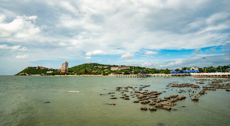 Chonburi, Tailandia - julio de 2019: Khao Sam Muk fotografía de archivo
