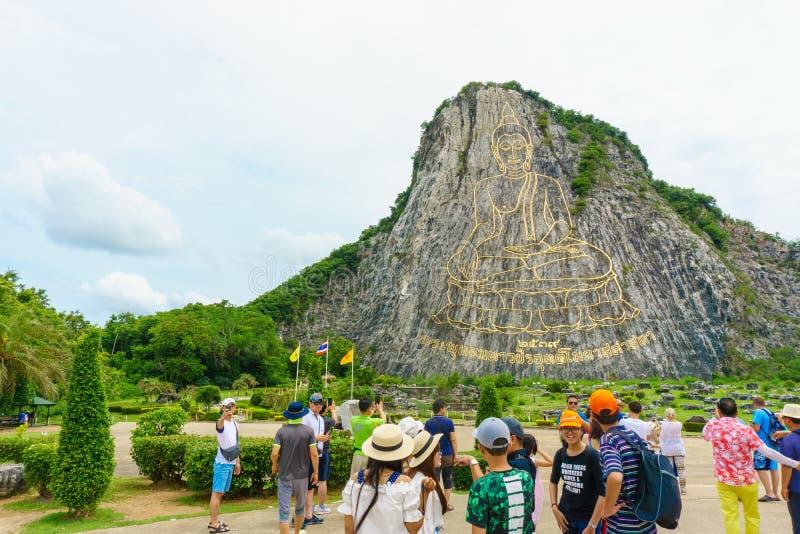 Chonburi, Thailand - 6. Juli 2016: Khao Chee Chan Pattaya, Thailand lizenzfreies stockfoto