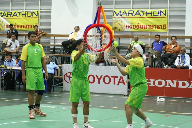 chonburigame obręcza takraw Thailand zdjęcia royalty free