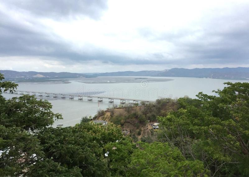 Chone River, Bahia de Caraquez, Ecuado images libres de droits