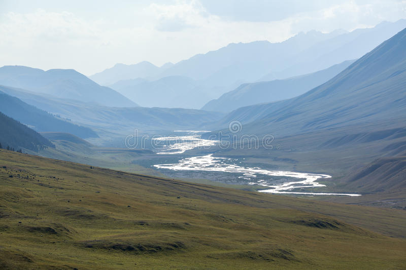 Chong-Kemin river in Kyrgyzstan royalty free stock photos