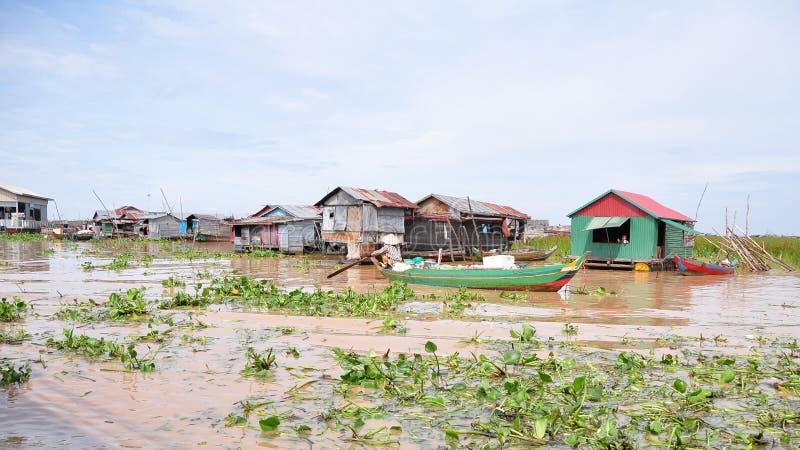 Chong Kneas River royaltyfri bild