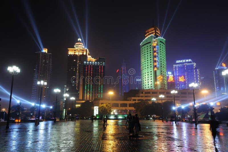chongqing σκηνή λιμένων νύχτας στοκ φωτογραφία