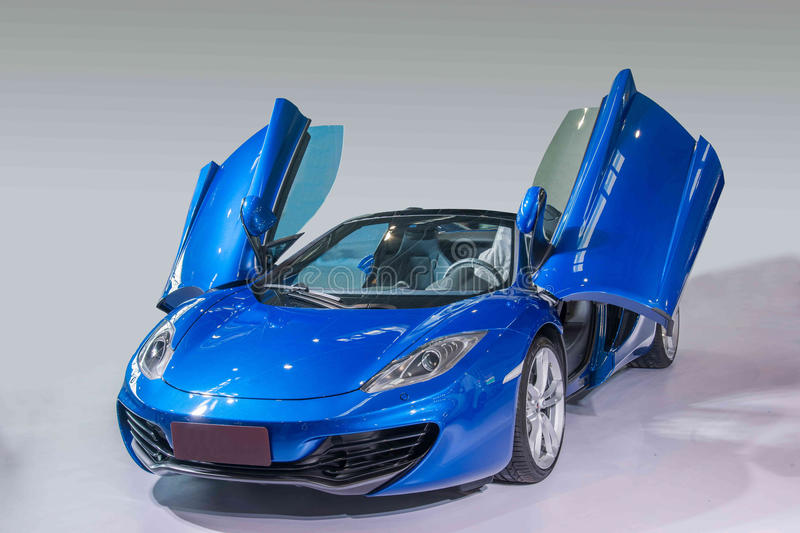 Chongqing Auto Show McLaren Series car. McLaren Group is headquartered in the United Kingdom Woking (Woking), gathered an advanced high-tech companies, each royalty free stock images