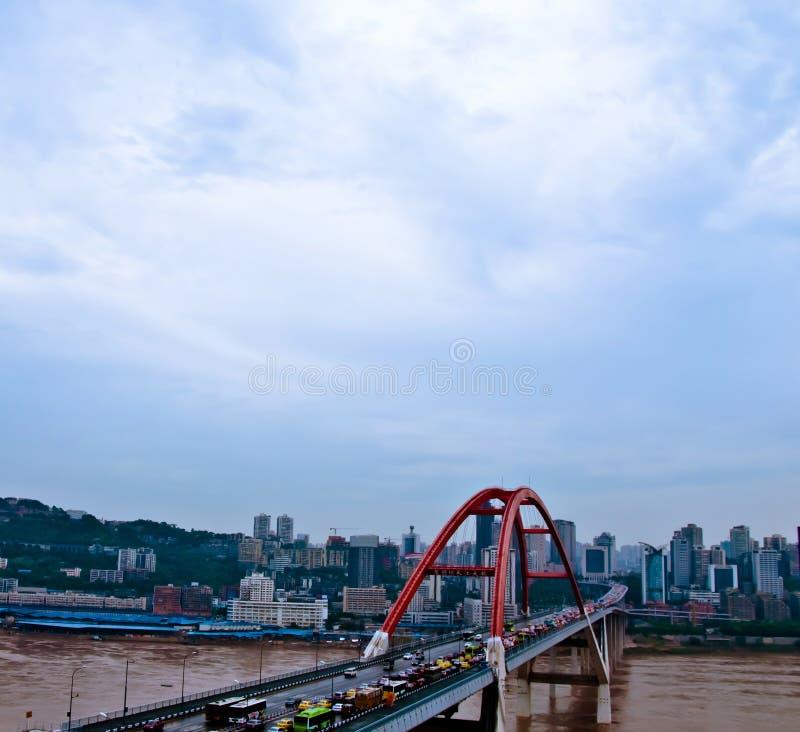 Chongqing Caiyuanba Yangtze River Bridge fotografía de archivo libre de regalías