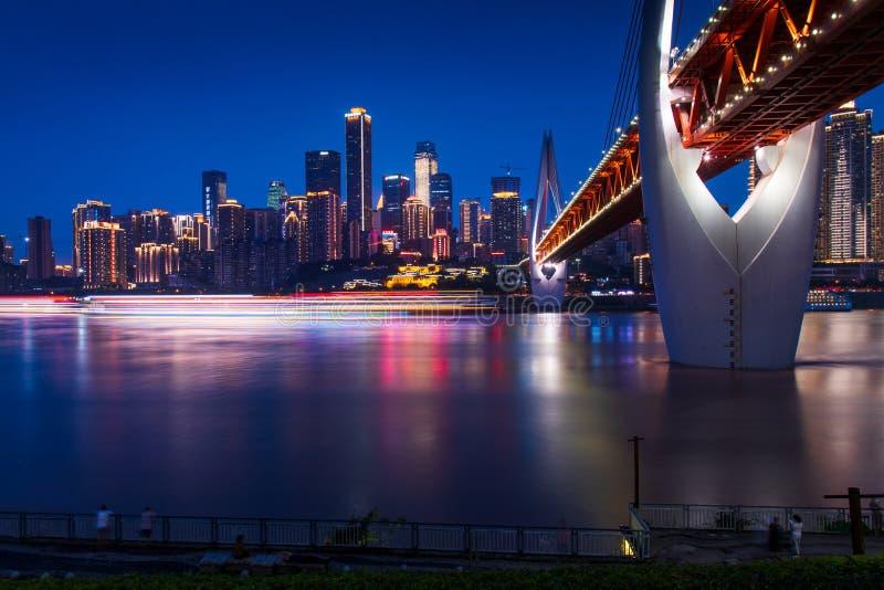 Chongqing, China - 24 de julio de 2019: Vista panorámica del horizonte de Chongqing en China imagen de archivo