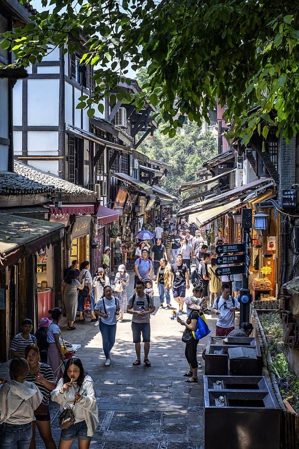 Chongqing Ciqikou Ancient Town immagine stock libera da diritti