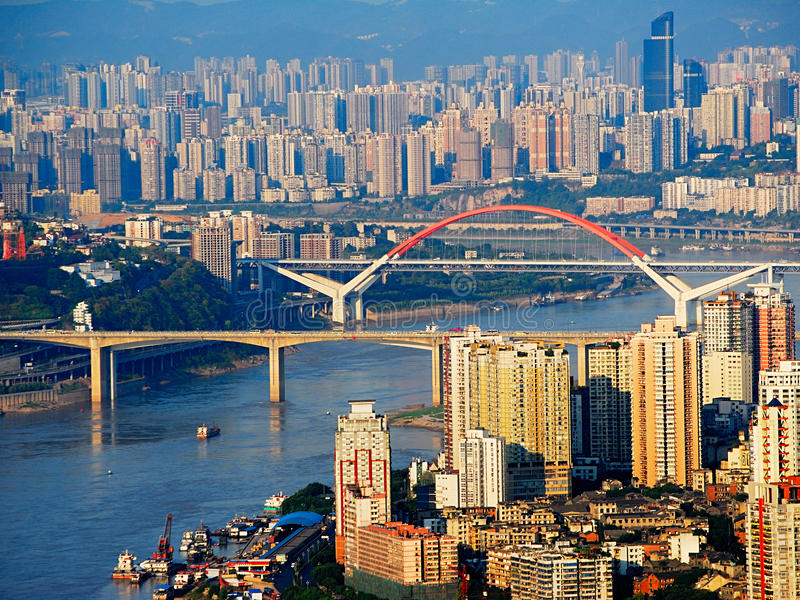 Chongqing city stock image. Image of middle, city, chinese ...