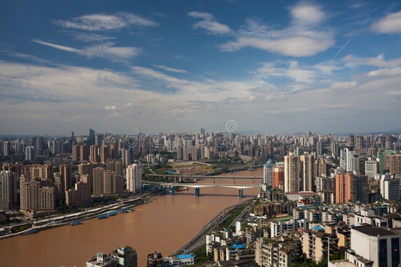 Chongqing city. Chongqing in China's Yangtze River and Jialing River Interchange, 3000 years of history. Chongqing Originally known as Yuzhou. Year 1189 changed stock image