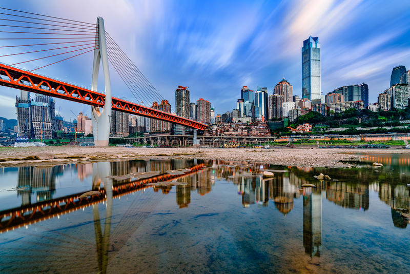 Chongqing City. Chongqing is a mountian city, Yangtze River around the city, We call Chongqing as the River and Mountain City stock photos