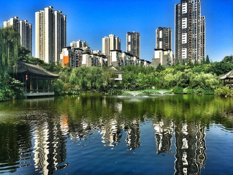 Chongqing city view. Baguocheng park in chongqing city of chins royalty free stock photography