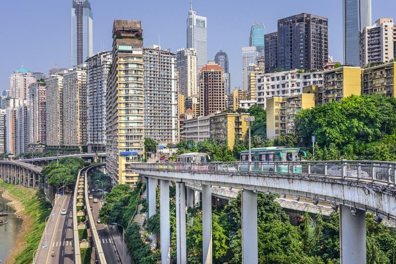 Chongqing, Cityscape van China royalty-vrije stock afbeeldingen