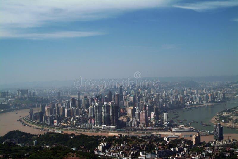 Chongqing, de grootste stad van China stock afbeeldingen