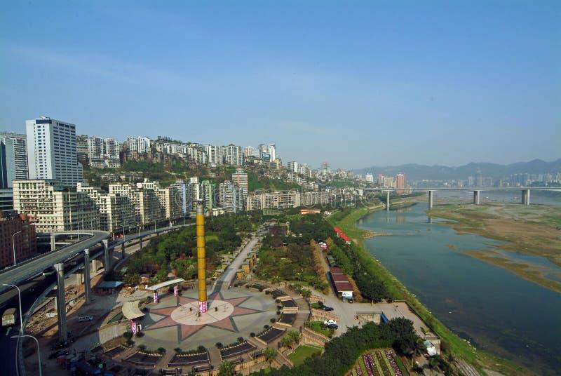 Chongqing, de rivier van metropoolYangtze royalty-vrije stock foto